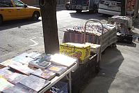 Books for sale along Broadway at 74th