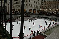 Skating at the outdoor rink at Rockefeller Ctre